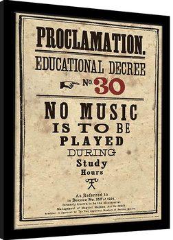 Indrammet plakat Harry Potter - Educational Decree No. 30