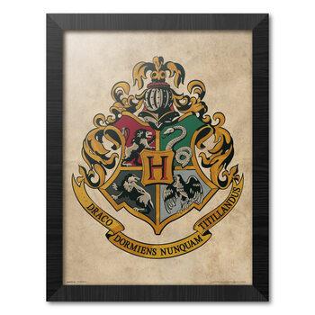 Indrammet plakat Harry Potter - Hogwarts Chrest