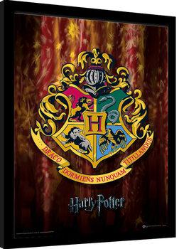 Indrammet plakat Harry Potter - Hogwarts Crest