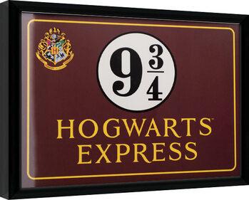 Indrammet plakat Harry Potter - Hogwarts Express