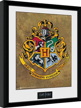 Indrammet plakat Harry Potter - Hogwarts