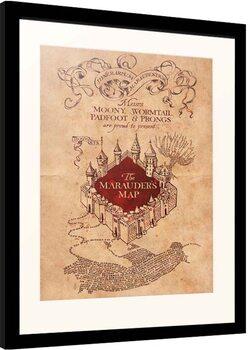 Indrammet plakat Harry Potter - Marauder's Map