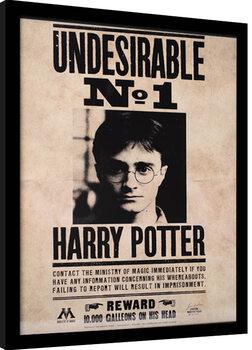 Indrammet plakat Harry Potter - Undesirable N.1