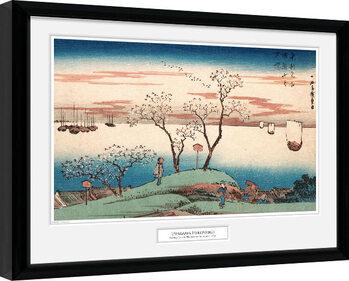 Indrammet plakat Hiroshige - Cherry Blossom at Gotenyama