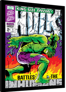 Indrammet plakat Incredible Hulk - Inhumans