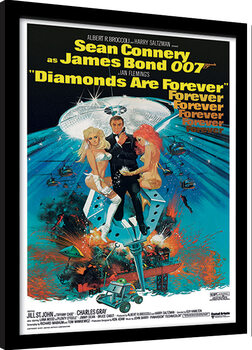 Indrammet plakat James Bond - Diamonds are Forever 2
