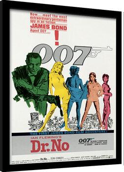 Indrammet plakat James Bond - Dr No One Sheet