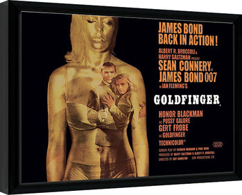 Indrammet plakat James Bond - Goldfinger - Projection