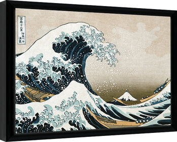 Indrammet plakat Kanagawa - Great Wave