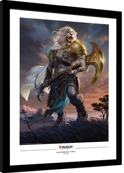 Indrammet plakat Magic The Gathering - Ajani Strength of the Pride