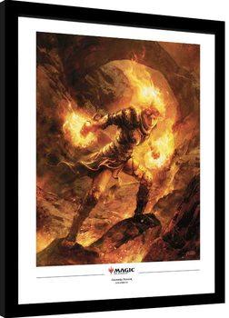 Indrammet plakat Magic The Gathering - Chandra Nalaar