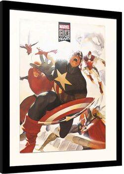 Indrammet plakat Marvel - 80 years Anniversary