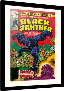 Indrammet plakat Marvel - Black Panter