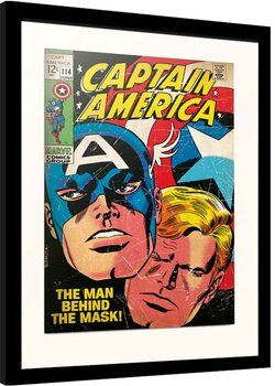 Indrammet plakat Marvel - Captain America