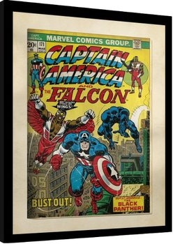 Indrammet plakat Marvel Comics - Captain America