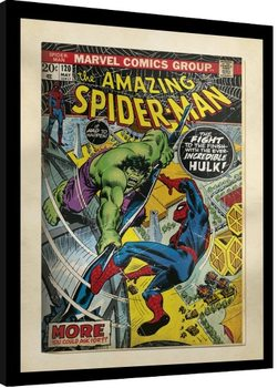 Indrammet plakat Marvel Comics - Spiderman