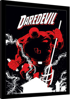 Indrammet plakat Marvel Extreme - Daredevil