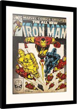 Indrammet plakat Marvel - Iron Man