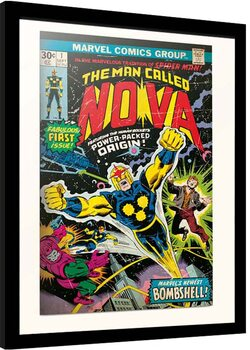 Indrammet plakat Marvel - Nova