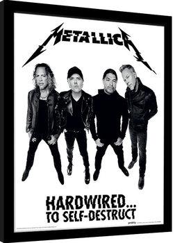 Indrammet plakat Metallica - Hardwired Band
