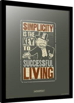 Indrammet plakat Monopoly - Simplicity