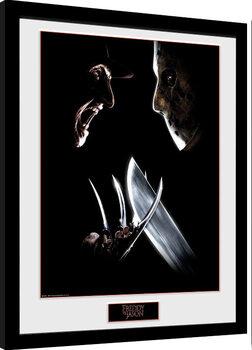 Indrammet plakat Nightmare On Elm Street - Face Off