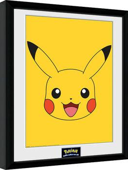 Indrammet plakat Pokemon - Pikachu