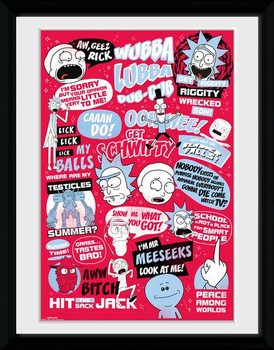 Indrammet plakat Rick and Morty - Quotes