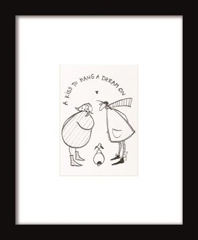 Indrammet plakat Sam Toft - A Kiss to Hang a Dream On