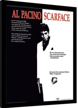 Indrammet plakat Scarface - One Sheet