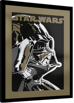 Indrammet plakat Star Wars - Dart Vader