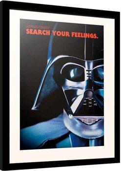 Indrammet plakat Star Wars - Darth Vader Frase