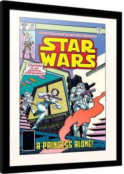 Indrammet plakat Star Wars - Princess Alone