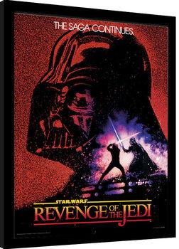 Indrammet plakat Star Wars - Revenge of the Jedi