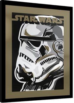 Indrammet plakat Star Wars - Stormtrooper
