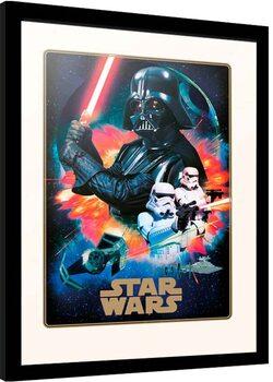Indrammet plakat Star Wars - Villains