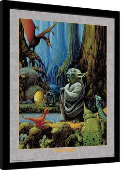 Indrammet plakat Star Wars - Yoda