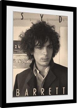 Indrammet plakat Syd Barrett - BW Portrait