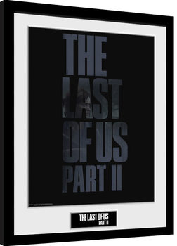 Indrammet plakat The Last Of Us Part 2 - Logo