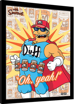 Indrammet plakat The Simpsons - Duff Man