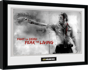 Indrammet plakat The Walking Dead - Rick