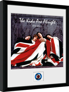Indrammet plakat The Who - The Kids ae Alright