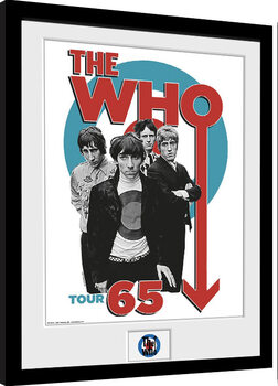 Indrammet plakat The Who - Tour 65