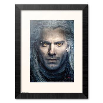 Indrammet plakat The Witcher - Geralt