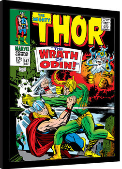 Indrammet plakat Thor - Wrath of Odin