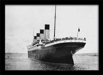 Indrammet plakat Titanic (3)