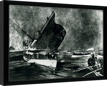 Indrammet plakat Titanic