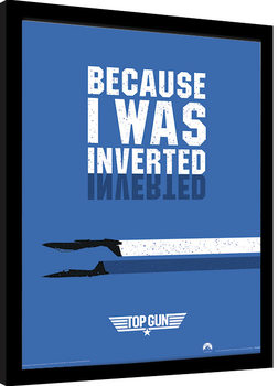 Indrammet plakat Top Gun - Inverted
