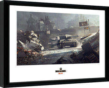 Indrammet plakat World of Tanks - German Tanks