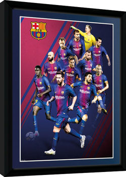 Barcelona - Players 17/18 indrammet plakat